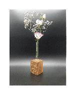 Deko-Block-Vase aus Massiv Buche