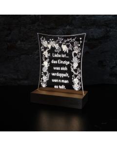 """Leuchtschild """"Liebe ist... verdoppelt"""""""